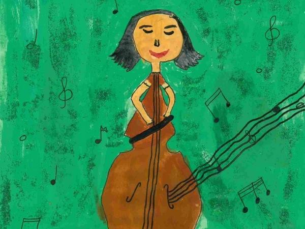 """""""Die Cellofrau"""" von Laurina H. (Klasse 2) aus Oberndorf-Bochingen"""